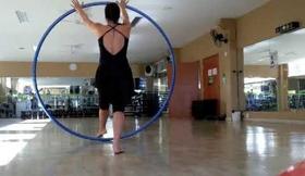 Cyr Wheel improvisation w/ Lindsey Stirling Crystallize song