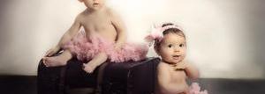 Casting crianças gêmeos e gêmeas